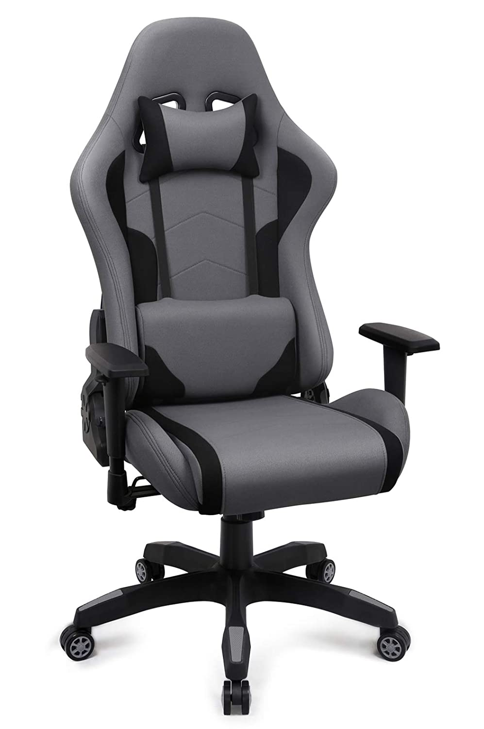 Astounding Fabric Gaming Chair Breathable Racing Office Chair For Bedroom Ergonomic Swivel High Back Recliner Computer Desk Chair Upgraded Grey Machost Co Dining Chair Design Ideas Machostcouk