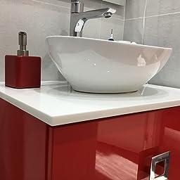 mDesign dispensador de jabón - Dispensador de gel recargable con ...