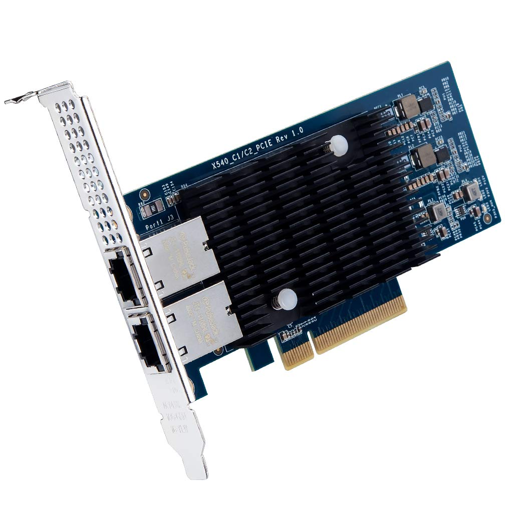 NIC Dual RJ45 Copper Ports Same as E1G42ET ipolex for Intel 82576 Chip 1.25G Gigabit Ethernet Converged Network Adapter PCI Express 2.0 X1