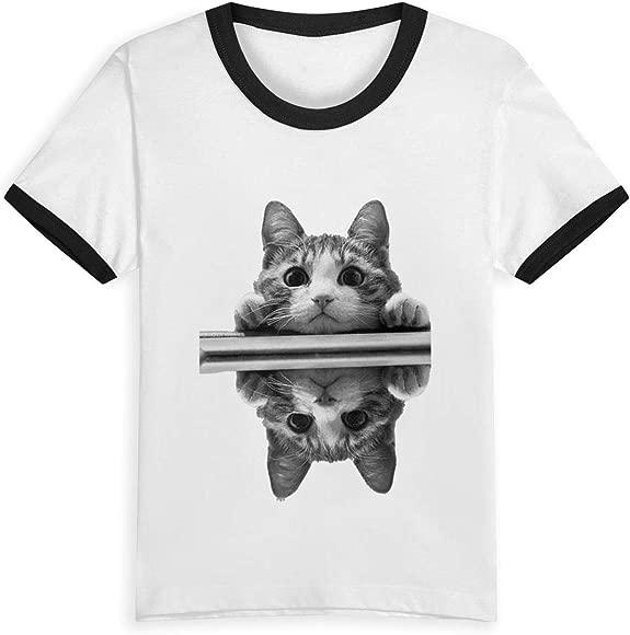 Cat Summer Basic Kids Short Sleeve Tee Short T Shirts