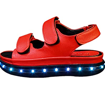 Women Fashion Recharged USB Lighted Shoes Cool Sandals Casual Summer Shoes