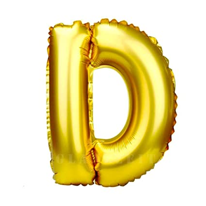 Amazon.com: Glanzzeit 32 Inch Gold Foil Balloons Letters A to Z
