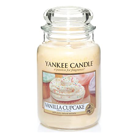 Yankee Candle Glaskerze, groß, Vanilla Cupcake