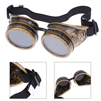 Steampunk Safety Goggles Steam Punk Windproof Vintage Welding Gothic Cosplay Lenses Protective Glasses by Luck2421 Home