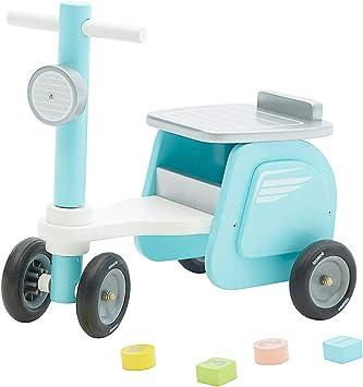 Labebe - Bicicleta Pedales Niño, Bicicleta Equilibrio Madera para Niños de 18 Meses a 3 Años, Bicicleta Pedales Niña/Bicicleta Pedales Madera/Bicicleta Pedales Bebé Azul: Amazon.es: Juguetes y juegos