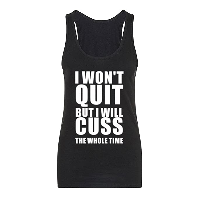 cf23ff55 Image Unavailable. Image not available for. Color: Fannoo Tank Tops for  Women-Womens Funny Saying Fitness Workout Racerback Tank Tops Sleeveless  Shirts