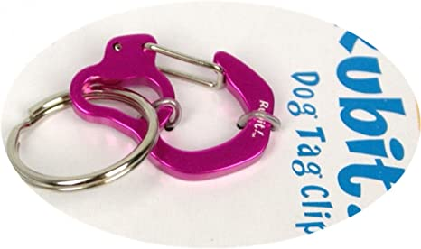Rubit The Easy Dog Tag Curve Shape Switch Clip Pink 0.85-Inch Diameter Small