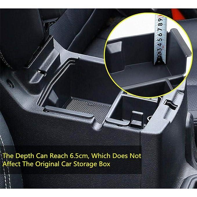 Insert ABS Tray Armrest Box Secondary Storage with Non-Slip Rubber Mats,Organizer Tray Armrest Box Storage Box Womdee Center Console Organizer for Jeep Wrangler JL//JLU 2018 2019 /& JT 2020