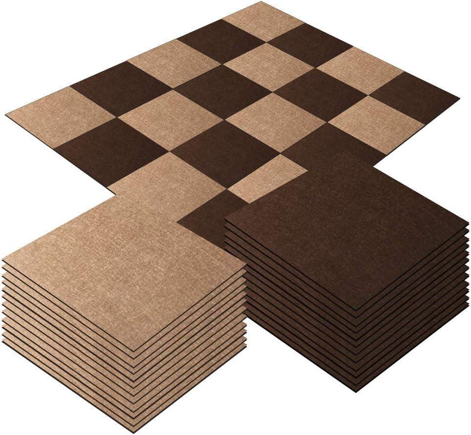 GUT-Siegel Emissions geruchsfrei wasserabweisend Viele Farben Gr/ö/ßen 25 x 25 cm, 20 St/ück Teppich
