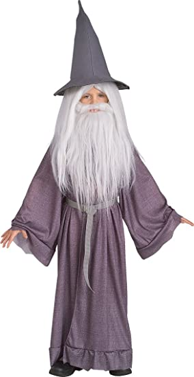 LORD OF THE RINGS Gandalf 3 Piece Costume World Book Day Fancy Dress for Kids