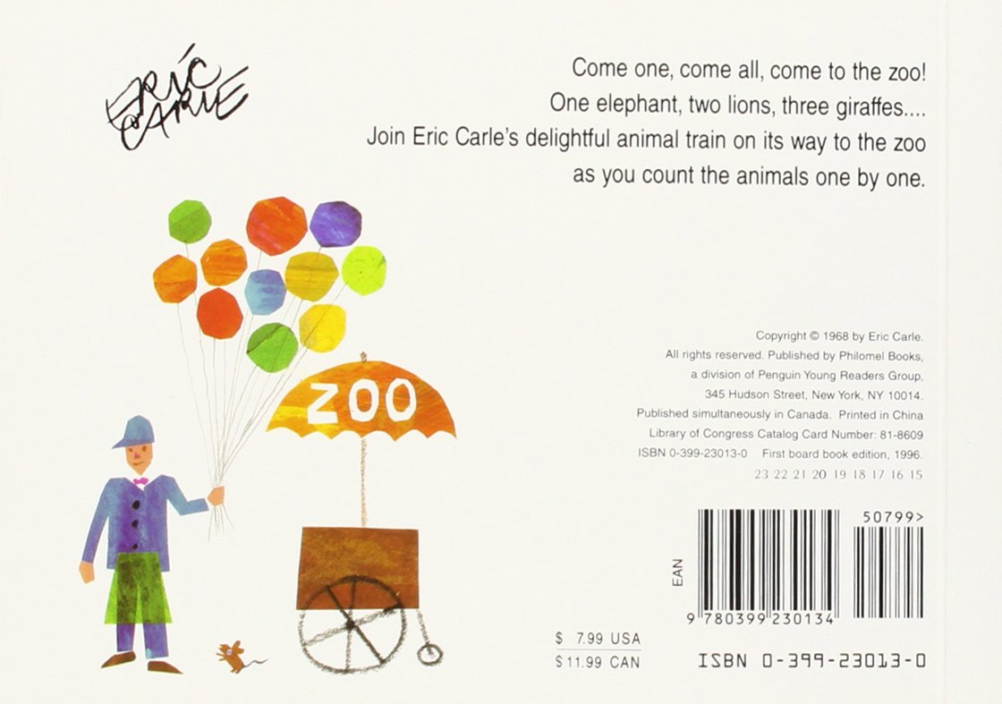Amazon 1 2 3 to the zoo a counting book 9780399230134 amazon 1 2 3 to the zoo a counting book 9780399230134 eric carle books nvjuhfo Choice Image