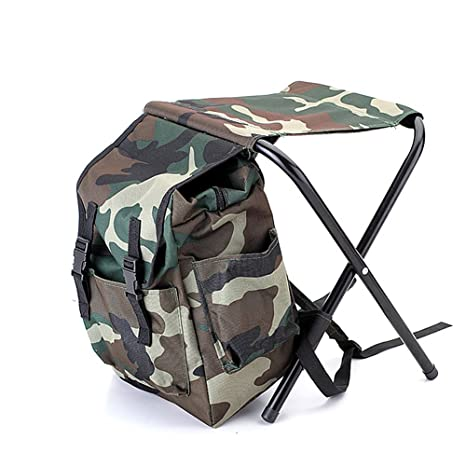Tinghan Camouflage Backpack Cooler Bag Chair High Intensity Steel Cross For  Fishing Camping
