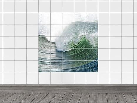 Piastrelle adesivo piastrelle bagno immagine onda per piastrelle