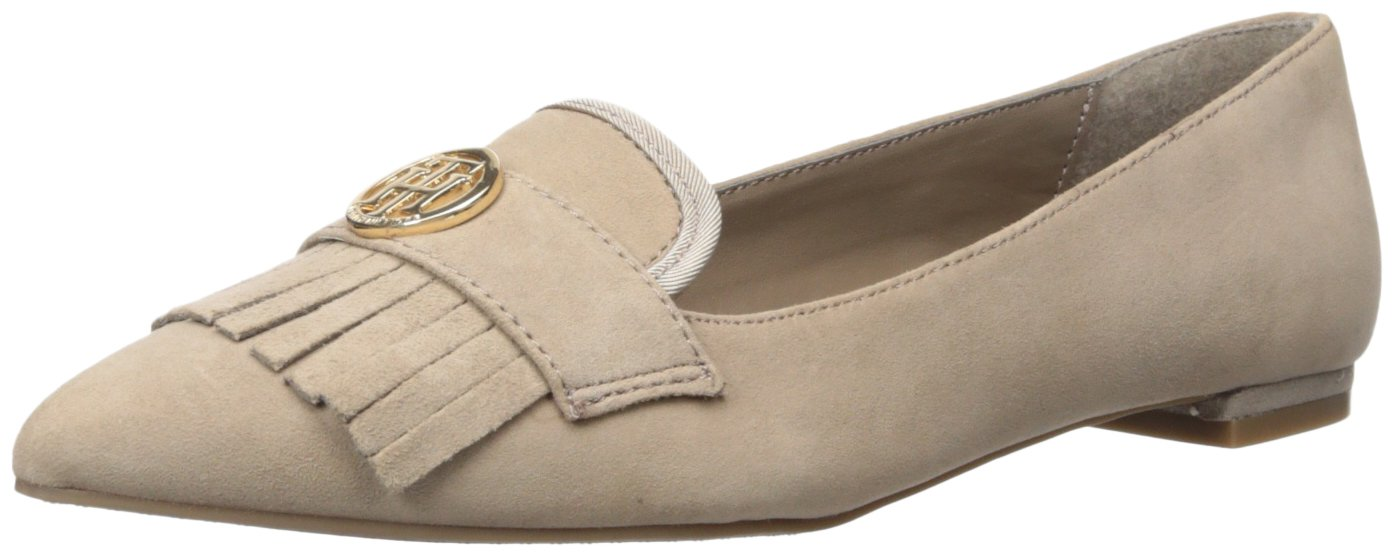 Tommy Hilfiger Women's Terzo Driving Style Loafer, Taupe, 7.5 Medium US