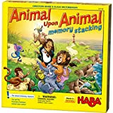 HABA Animal Upon Animal Stacking Memory Game - A Thrilling Twist of The Popular Game (Made in Germany)