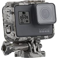 TELESIN Camouflage Protective Frame Mount Housing Camera Border with Quick Release Buckle and Screw for GoPro Hero 2018, Hero 7 Hero 6 Hero 5 Black Frame Case Accessories (Grey)