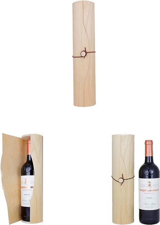 Caja Cilíndrica de Madera para Botella de Vino, Pashminas, Regalos. Lote de 6 Unidades. Regalo para Bodas, Bautizo, Comunión, Eventos y Empresas.: Amazon.es: Hogar