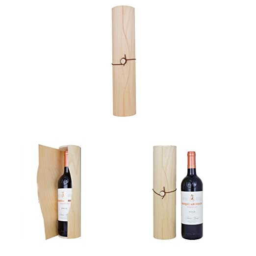 Botellas De Vino Para Regalar En Bautizos.Caja Cilindrica De Madera Para Botella De Vino Pashminas