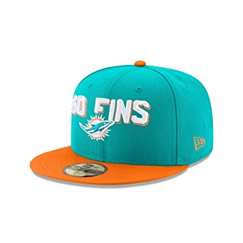df434a81 New Era NFL MIAMI DOLPHINS Authentic 59FIFTY Onstage 2018 Draft Cap ...