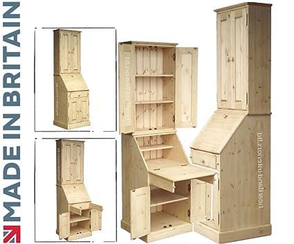 Mesa de pino macizo, hecho a mano y encerado 4 puerta escritorio ...