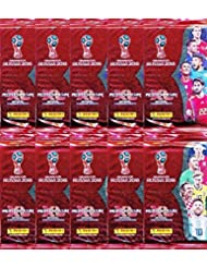 2018 Panini Adrenalyn XL FIFA World Cup Russia Collection of TEN(10) Factory Sealed Packs with 60 Cards! Look for Superstars Including Lionel Messi, Ronaldo, Neymar Jr,Harry Kane & Many More! WOWZZER!