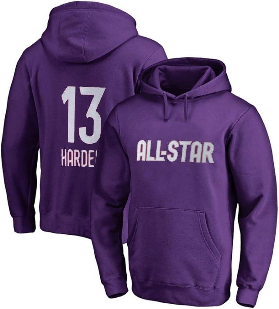 NQFL James Harden # 13 Fans Basket-Ball Sweat /à Capuche Sweat-Shirt Haut /à Manches Longues