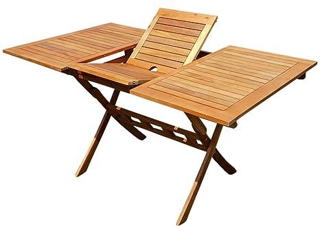 ASS Table extensible pliable 100/140 x 80 cm - Table pliante ...