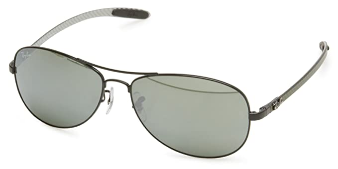 87563a2aac53 Ray-Ban RB8301 - BLACK Frame CRYSTAL GREY MIRROR Lenses 59mm Non-Polarized