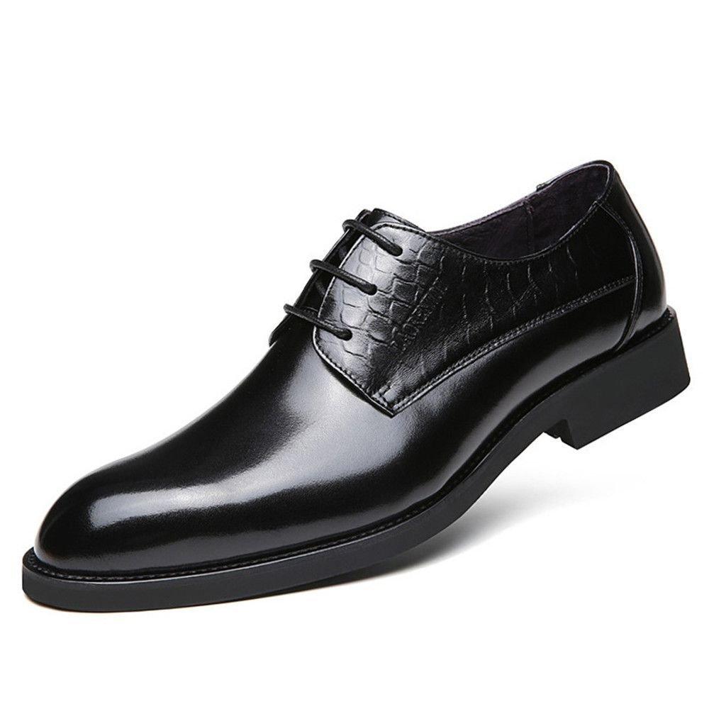 Männer zwanglos lederschuhe, Geschäft casual schuhen, leder scharf punkte, britische spitzen lederschuhe,schwarz,44