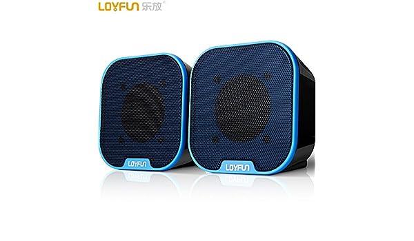 WANGZHAO Audio De Ordenador Portátil Mini Altavoz De Escritorio Mini USB,Azul: Amazon.es: Deportes y aire libre