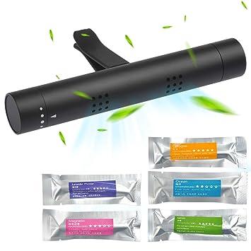 BUYGOO Ambientador de Aire para Coche 5 Palos de Aroma sólido con purificador de Aire, Difusor de Coche Desodorante del Vehículo de Olor Diferente ...
