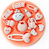Longzang F0486 Baby Shower Fondant Silicone Sugar Craft Mold, Mini