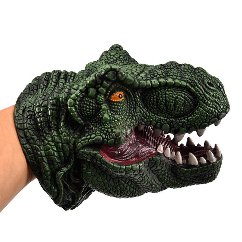 Tier Handpuppe Modell Interaktion Spielzeug Ochsen Drachen Hand Kopf Marionetten Rolle abspielen Realistisch Handschuhe Weich f/ür Kinder