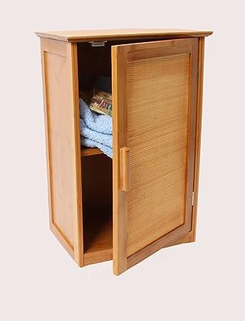 Bambus Badezimmer Hängeschrank, Wandschrank, Badezimmerschrank, Eintürig,  67,5x40x30cm