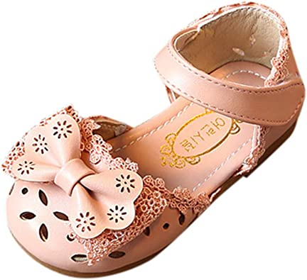 Kids Baby Girls Princess Shoes Toddler Infant Flower Bowknot Party Shoes Sandals