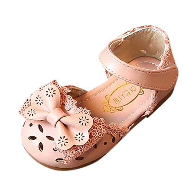 863ce0e726a29 Toddler Sandals FAPIZI Infant Kids Baby Girls Elegant Bowknot Flower  Princess Shoes Skid Bottom Flats