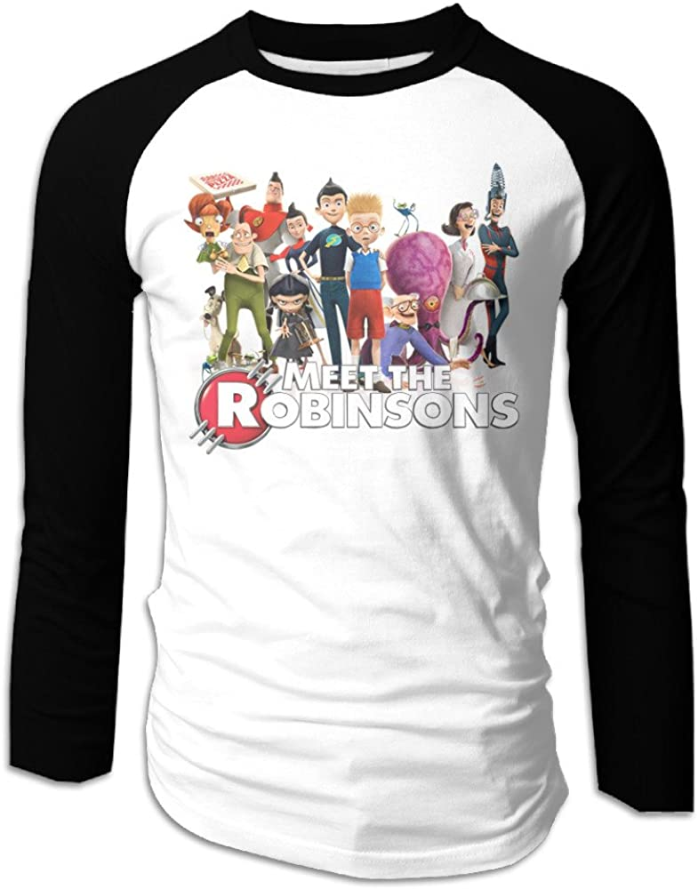 MEGGE Meet The Robinsons6 Men Shoulder Long Sleeve T Black
