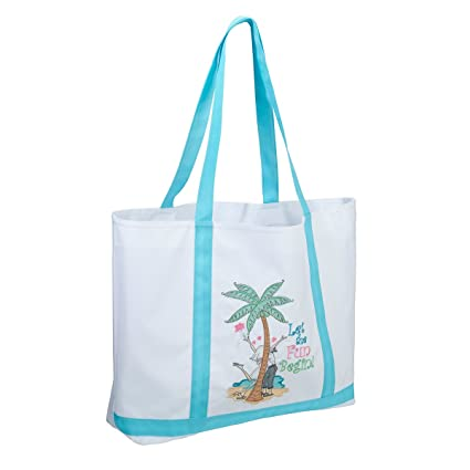 113658f776007c Amazon.com  Let the Fun Begin Large Nylon Tote Bag  Home   Kitchen