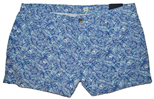 GAP Womens Blue Palm Print Low Rise Shorts 16