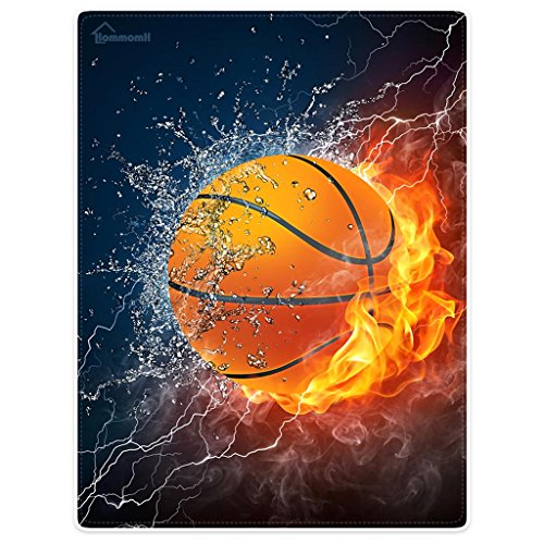 anket Comfort Warmth Soft Cozy Air conditioning Easy Care Machine Wash Basketball Fire Cool (Fleece Embroidered Basketball)