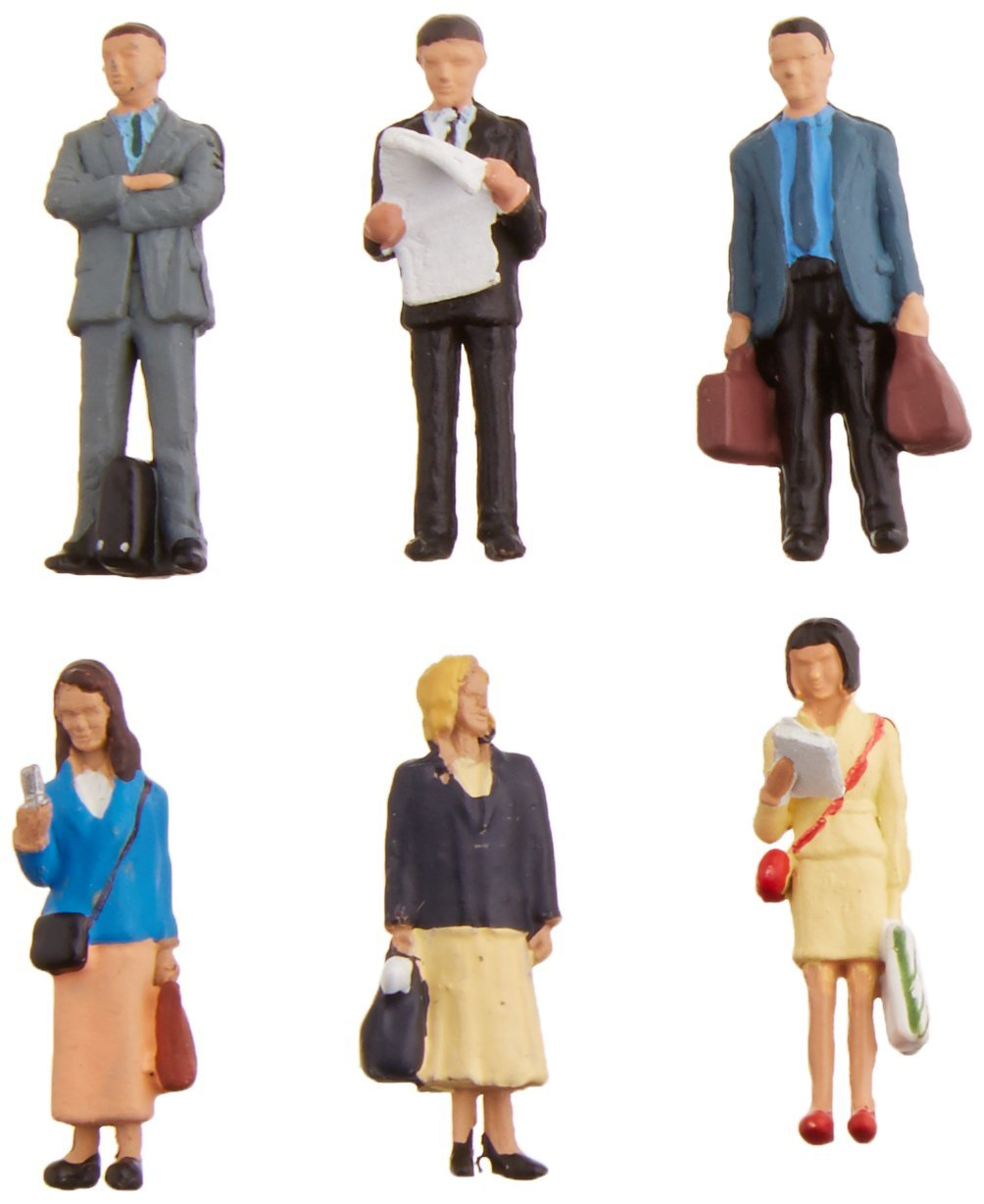 Bachmann Industries SceneScapes Standing Platform Passengers Miniature Figures 6 Piece