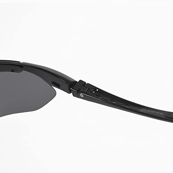 4f142fb6550 Amazon.com   Walleva Polarized Sports Sunglasses With TR90 Frame - Multiple  Options Available (Black - Polarized)   Sports   Outdoors