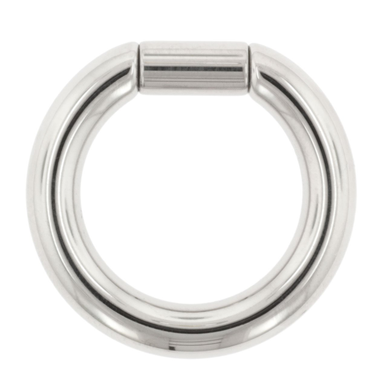 Body Circle Designs One Stainless Steel Captive Tube Ring: 6g, 7/16'' (Sold Individually. Order Two for A Pair.) by Body Circle Designs
