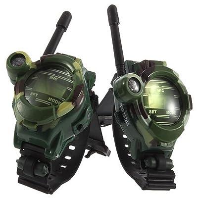 RedDhong 1 Pair Children Camouflage Walkie Talkie 7 in 1 Dgital Children Parent Watches Intercom Toy Good Gift for Kids: Toys & Games