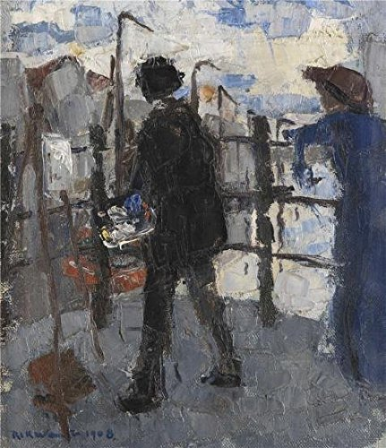High Quality Polyster Canvas ,the High Definition Art Decorative Prints On Canvas Of Oil Painting 'Rik Wouters - The Painter At Hoogbrug In The City Of Mechelen, 1908', 16x19 Inch (Party City In Harlem)