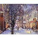 Vuage(TM) ルームデコレーションアートワーク40x50cmのための油絵のホームインテリア手描きの数字でフレームレスのクリスマス風景DIY絵画