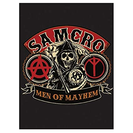 f8c758267 SOA Sons of Anarchy Men of Mayhem Velour Perfect Soft Thick Microfiber Mink  to Black Cast Aside Gritty Exterior Warm Light weight 60
