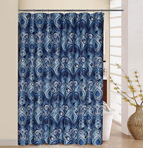 WAVERLY BOHSCH00LBL Boho Passage Shower Curtain Set, 70x72, (Shower Curtain Waverly)