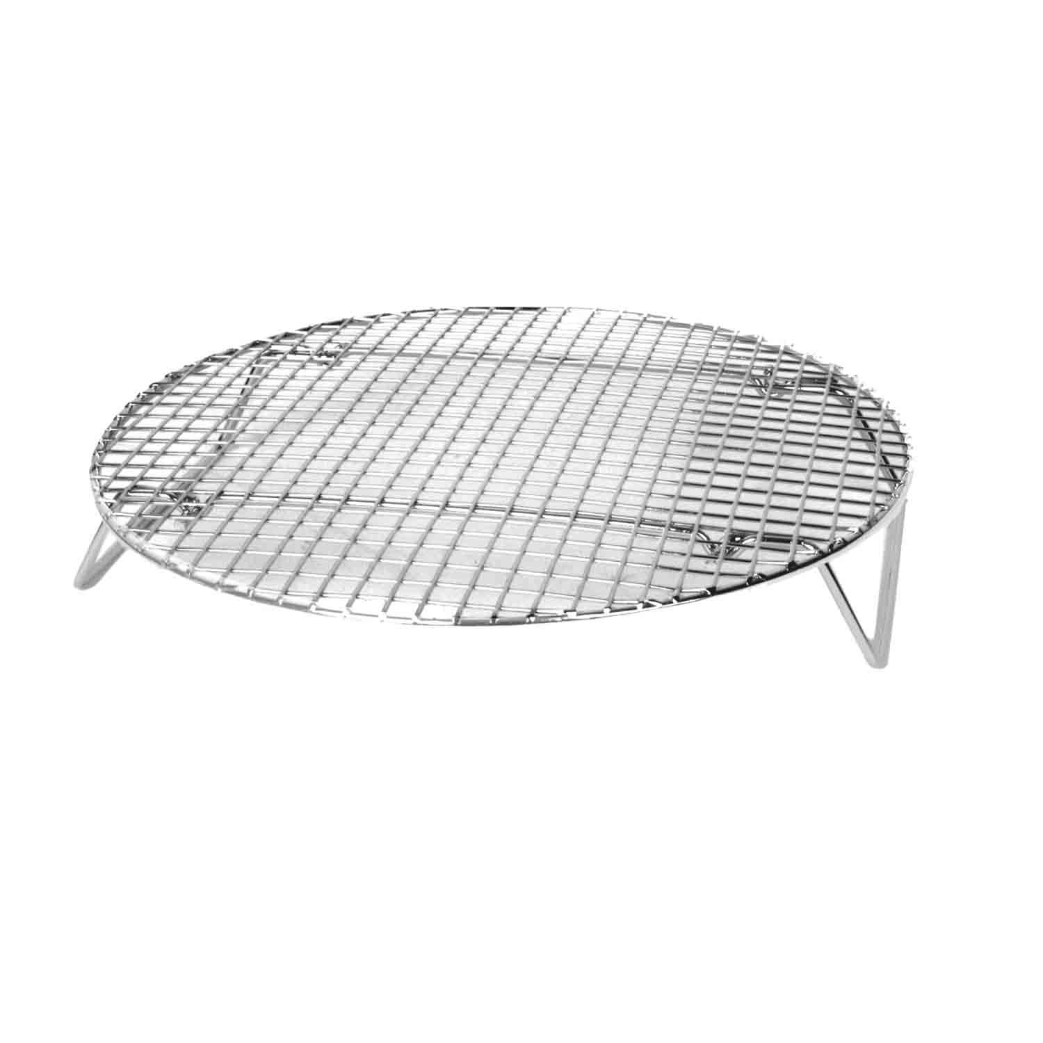 Excellante Nickel Plated Round Cooling/ Steamer Rack, 10-1/2-Inch