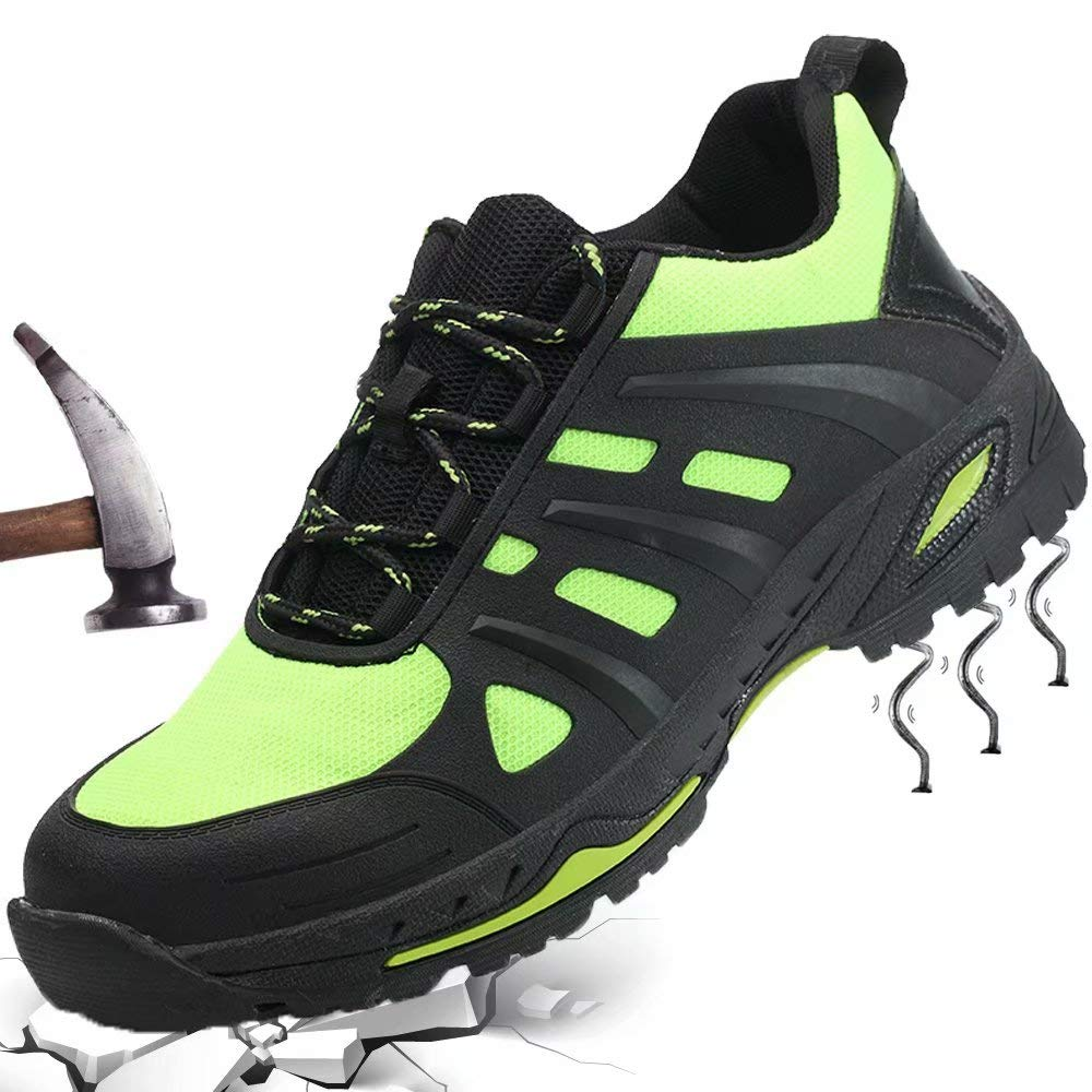 GUFANSI Arbeitsschuhe Herren Sicherheitsschuhe Damen mit Stahlkappe Atmungsaktiv Schutzschuhe Sportlich Wanderhalbschuhe Hiking Trekkingschuhe f/ür Outdoor